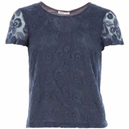 Lavand Lace Short Sleeved Top