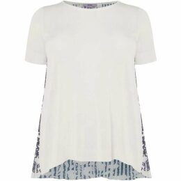 Persona Knitted tee with patterned pleated back
