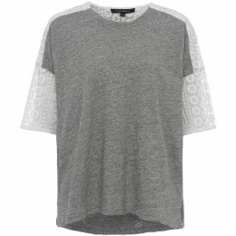 French Connection Dune Lace Crochet T-Shirt