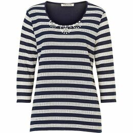Betty Barclay Embellished striped top