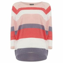 Phase Eight Giorgia Stripe Linen Knitted Top