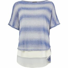 Phase Eight Space Dye Stripe Macey Knitted Top