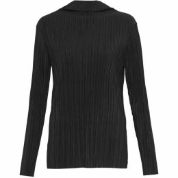 French Connection Lou Pleated High Neck Top