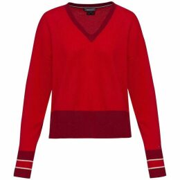 Tommy Hilfiger Afina Tipping V-Neck Sweater