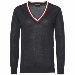Tommy Hilfiger Adana Tipping V-Neck Sweater