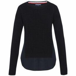 Tommy Hilfiger Abella Fabric Mix Crew-Neck Sweater