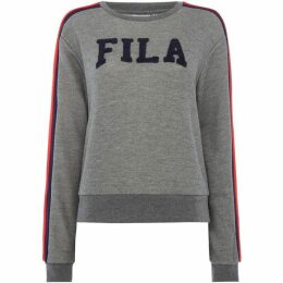 Fila Logo W/Stripe Shoulders Sweat