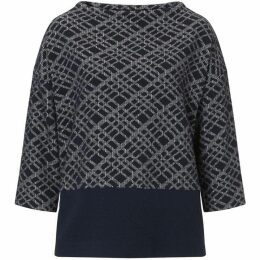 Betty Barclay Graphic textured tunic top