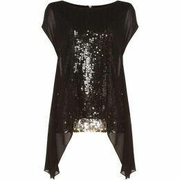 Phase Eight Delilah Double Layer Sequin Top