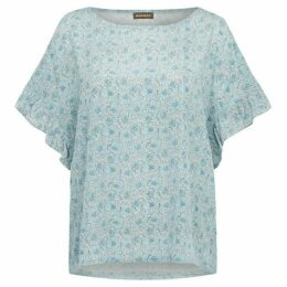 Repeat Cashmere Floral print silk top