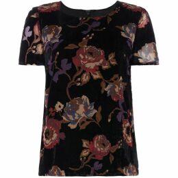Vero Moda Fiona Short Sleeve Devore Floral Top