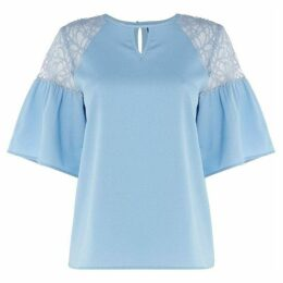 Vero Moda Channon three quarter Sleeve Top With Lace Detail