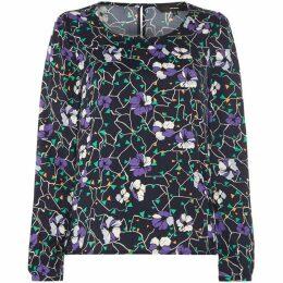 Vero Moda Isolde Long Sleeve Floral Print Top