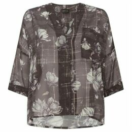 Label Lab Climbing magnolia print woven top