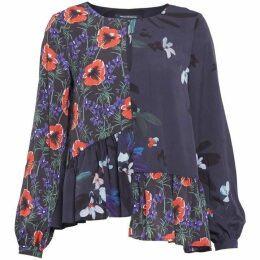 French Connection Lisette Crepe Light Printed Top