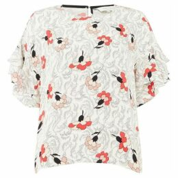 Part Two Kris floral ruffle sleeve top