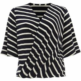 Phase Eight Willa Wrap Front Stripe Top