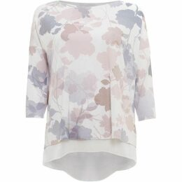 Phase Eight Shea Shadow Floral Print Top