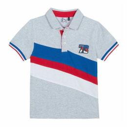 3 Pommes Kid Boy Gris Chine Polo Shirt