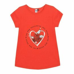 3 Pommes Kid Girl Red Poppy Tee-Shirt