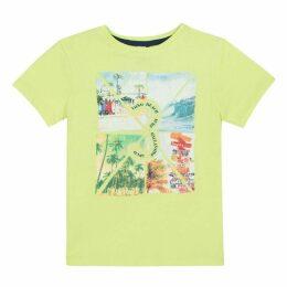 3 Pommes Kid Boy Neon Yellow Tee-Shirt