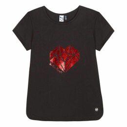 3 Pommes Kid Girl Black Tee-Shirt
