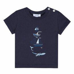 Absorba BABY BOY TEE-SHIRT MARINE BLUE