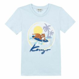 Kenzo Kid Boy Tee-Shirt Blue Grey