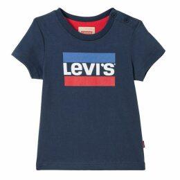 Levis Dark Blue Baby Boy T-shirt