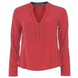 Salsa V Zip Blouse Womens