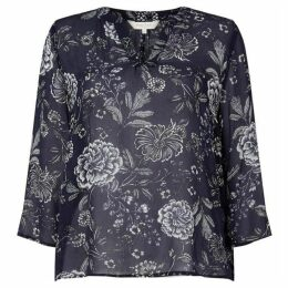 Part Two V neck blouse with flower print