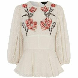 Karen Millen Floral Embroidered Blouse