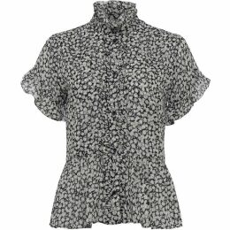French Connection Elvire Lawn Ruffle Blouse