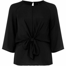 Vero Moda Ruby three quarter Sleeve Knot Front Blouse