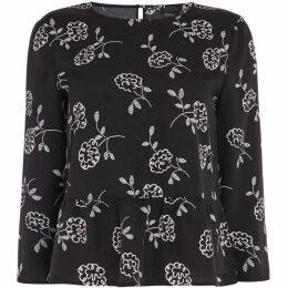 Armani Exchange Long Sleeve Flower Blouse