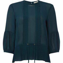 Sessun Bonnie pleated flounce blouse