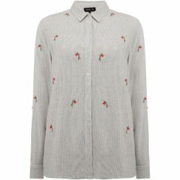 Label Lab Rose embroidered shirt