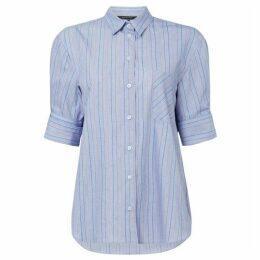 Armani Exchange Mid Sleeve Button Up Pinstripe Shirt