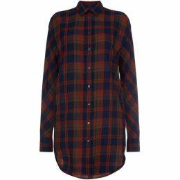 Gant Long Line Checked Shirt