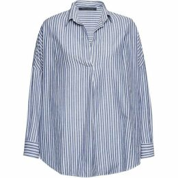 French Connection Tatus Stripe Pop Over Shirt