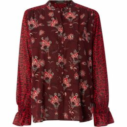 Maison Scotch Contrast printed shirt