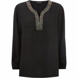James Lakeland V Neck Embroidery Shirt