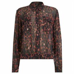 All Saints Adeliza Leopard Shirt