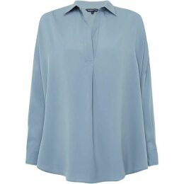 French Connection Rhodes Crepe Pop Over Shirt