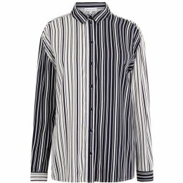 Warehouse Monochrome Mixed Stripe Shirt