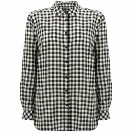Mint Velvet Black & Ivory Gingham Shirt