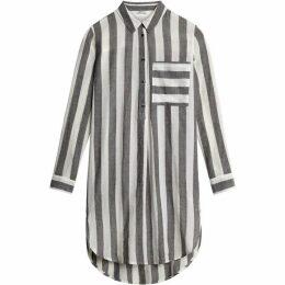 Sandwich Longline Stripe Shirt