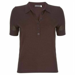 Mint Velvet Chocolate Knitted Polo Shirt