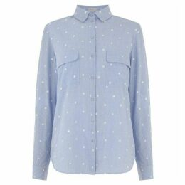 Oasis Stripe And Spot Cotton Shirt