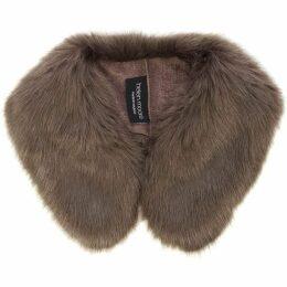 Helen Moore Faux Fur Shirt Collar